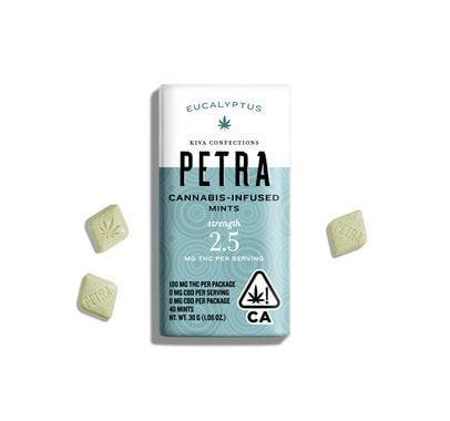 KIVA Confections eucalyptus petra mints
