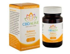cbd alive balanced delayed release capsules
