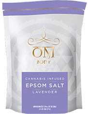 OM Bath Salt Lavender and CBD and THC