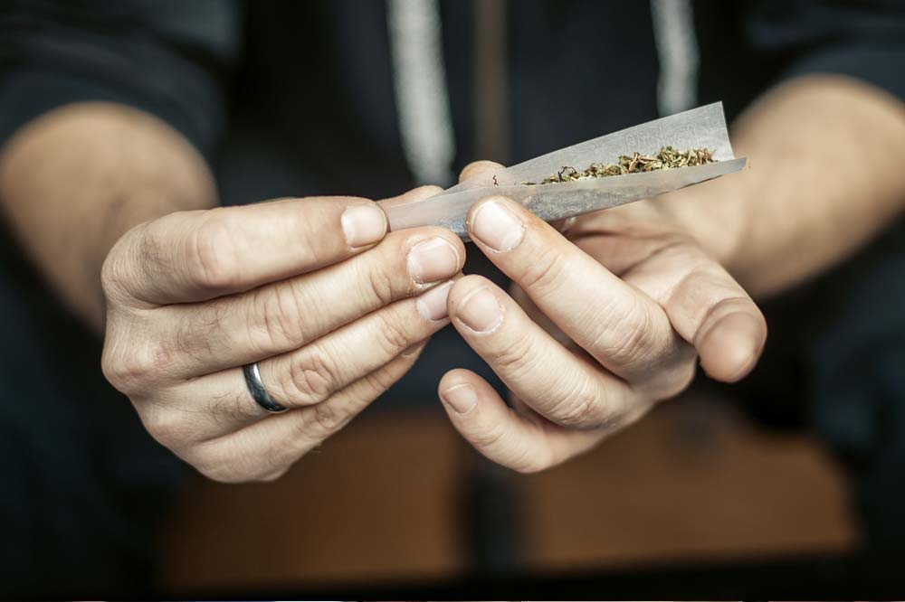 Rolling a joint - pain-relief