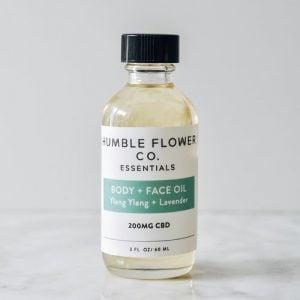 Humble Flower Body and Face Oil CBD Hemp