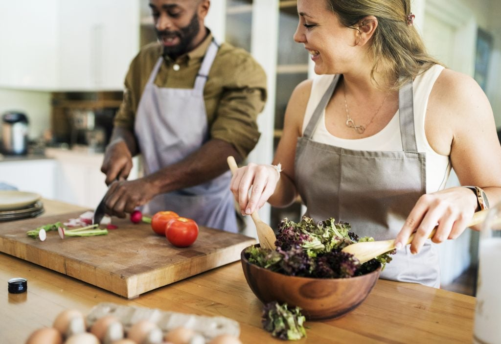cannabis and appetite, cooking in the kitchen