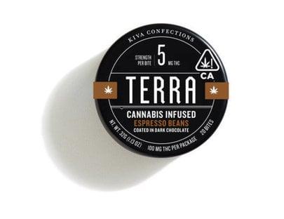 KIVA terra cannabis infused coffee espresso beans