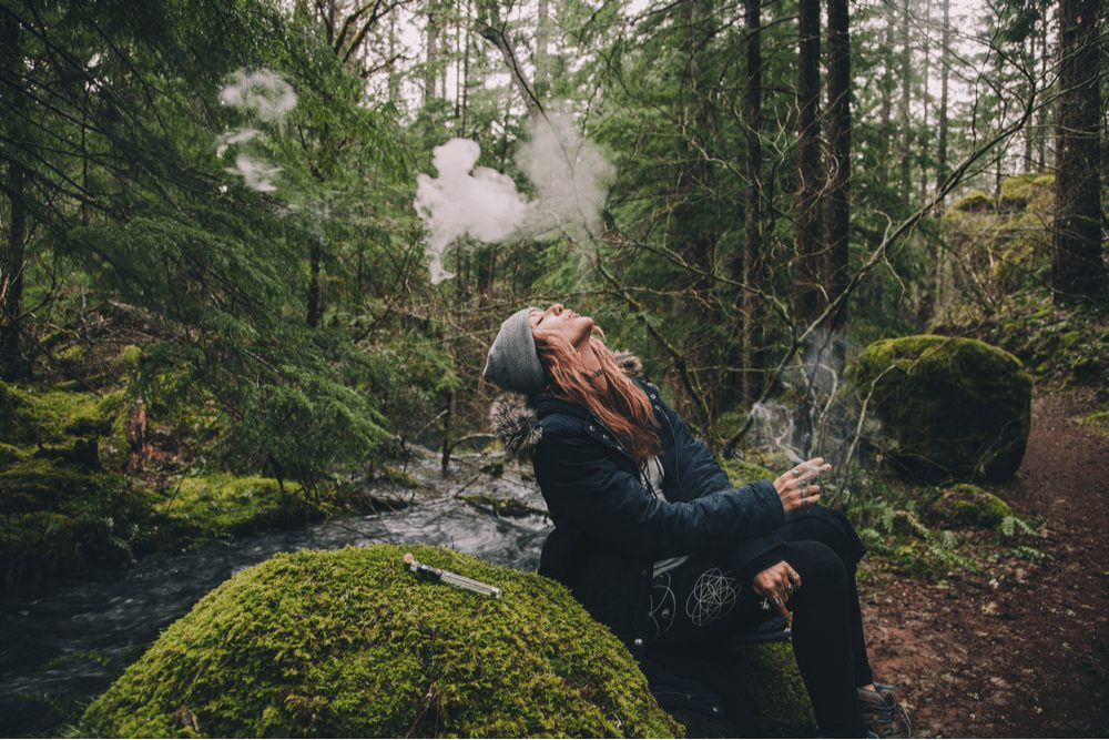 girl in woods long term cannabis