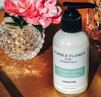 Humble Flower Co Jasmine and rose soothing lotion CBD