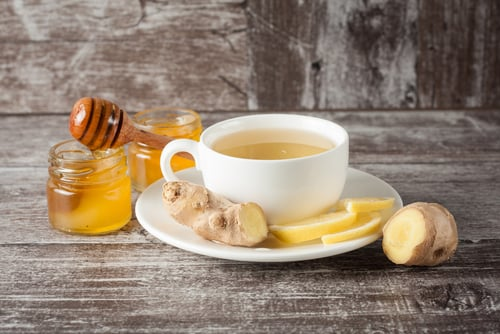 honey lemon ginger tea for common cold