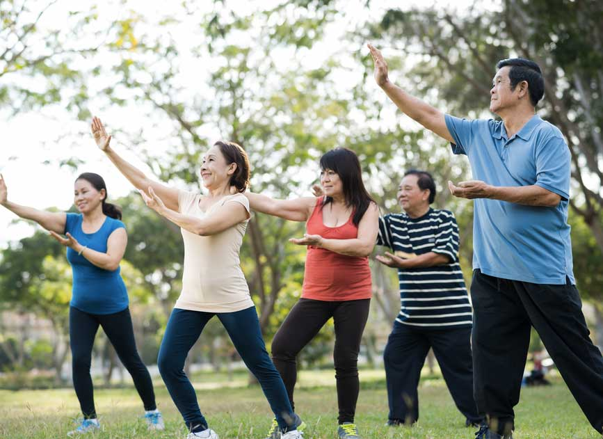 Tai Chi aids in improving joint stiffness