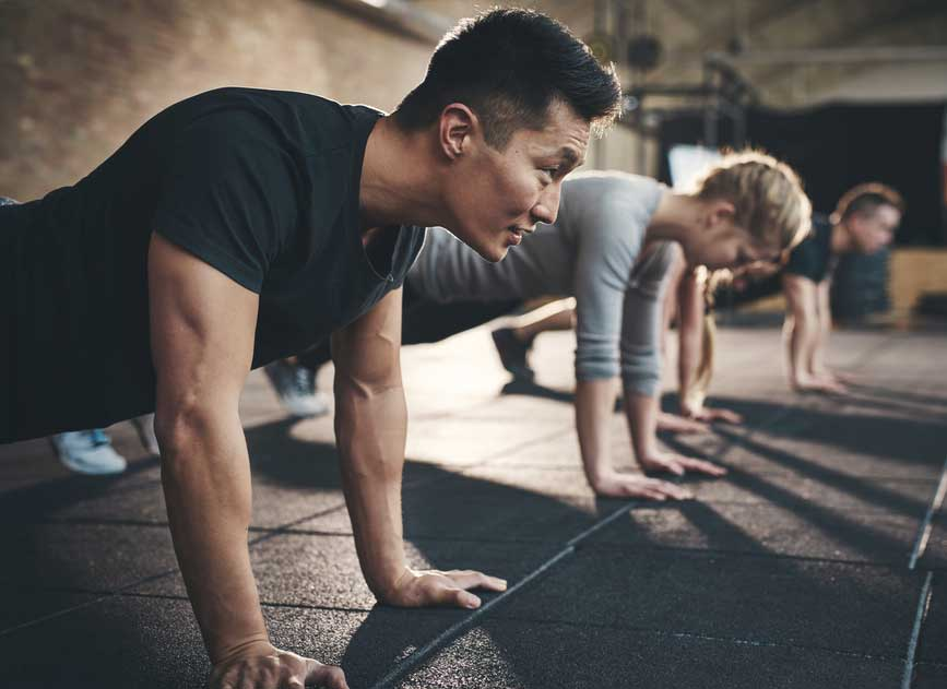 workout stress recovery and rest planks