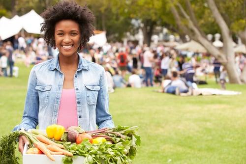american farmer's market girl
