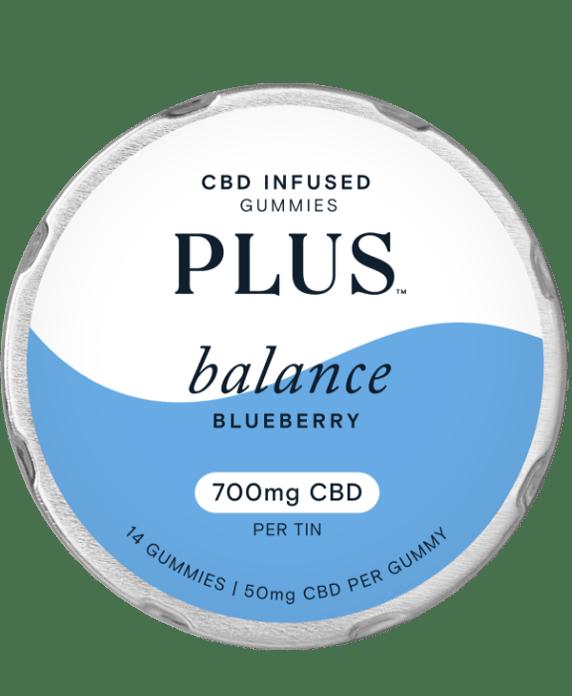 Plus balance CBD gummies blueberry