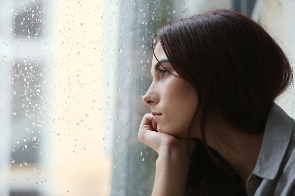Seasonal affective disorder depression woman