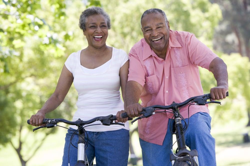 mature couple glaucoma exercise