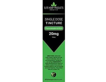 elite hemp products single dose tincture
