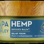 a container of Papa & Barkley hemp balm