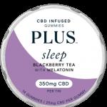 a tin of PLUS CBD Gummies: Sleep