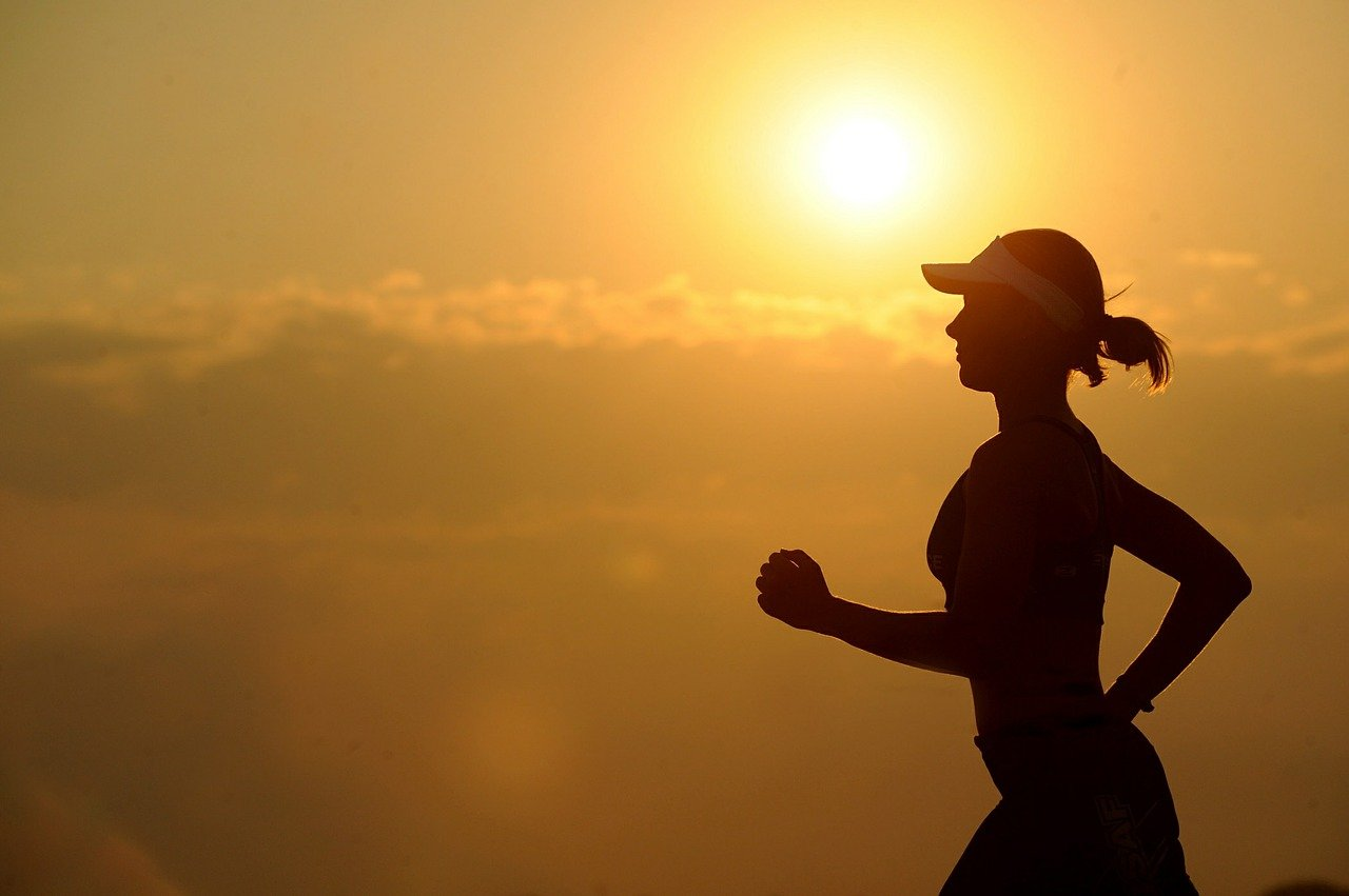 Woman running long distance